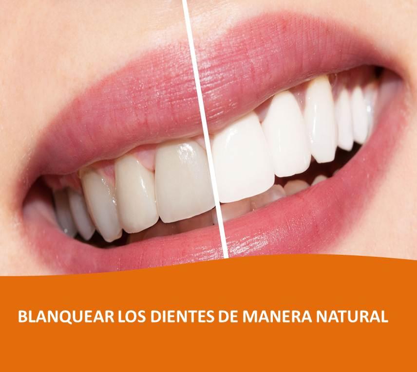 blanquear los dientes de manera natural